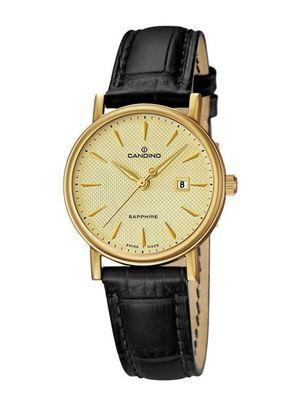 CANDINO Swiss Watch - Hochwertige Damenarmbanduhr Classik IP Gelbgold C4490/2