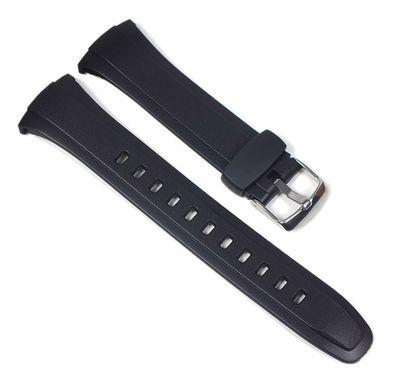 Casio Uhrenarmband Resin schwarz | WVQ-M410 WVA-M650 WVA-M640 10408444  – Bild 1