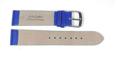 Berlin Ersatzband Uhrenarmband Kalbsleder Band Blau 23237S – Bild 2