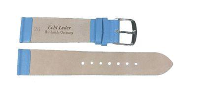 Berlin Ersatzband Uhrenarmband Kalbsleder Band Blau 23239S – Bild 2