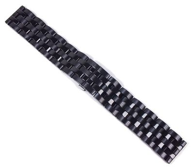 Minott Ersatzband Uhrenarmband Massives Edelstahl schwarz