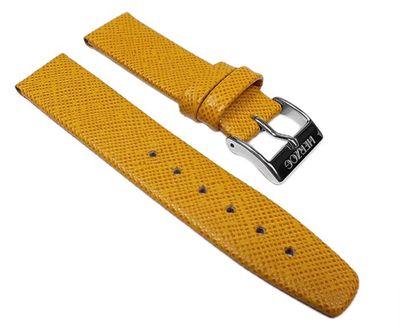 Uhrenarmband Leder Gelb für Kinder Antiallergie 23288S