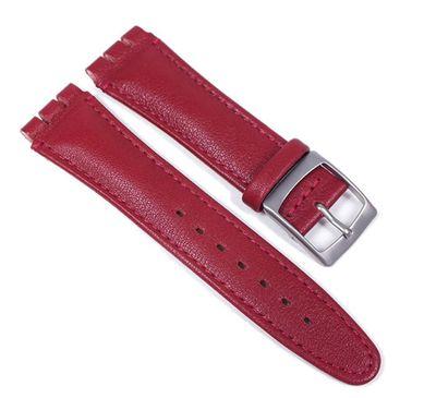 Minott Uhrenarmband Leder rot passend zu Swatch 19mm 23294S – Bild 1