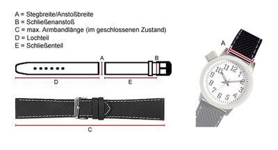 Maurice Lacroix Ersatzband Uhrarmband Leder Band Tiago Waterproof Dunkelblau / Naht hell 20mm 23403S – Bild 3