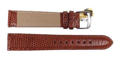 Manhattan Ersatzband Uhrenarmband Echt Eidechsenleder Braun 23408S – Bild 2