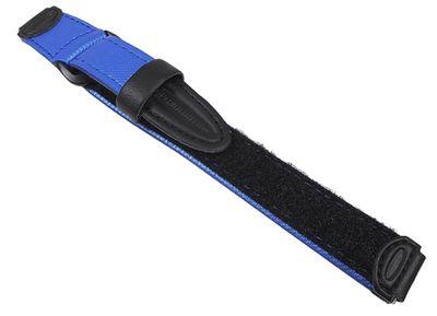 Casio Uhrenarmband 14mm | Klettband blau/schwarz für Kinderuhr LW-200V
