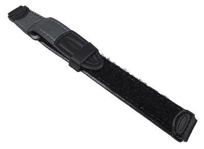 Casio Uhrenarmband 14mm | Klettband grau/schwarz für Kinderuhr LW-200V
