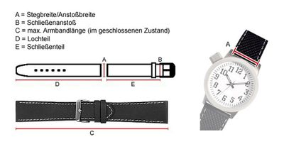 Manhattan Ersatzband Uhrenarmband Echt Eidechsenleder Dunkelblau 23428G – Bild 3
