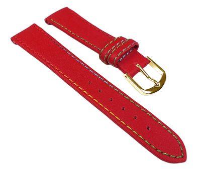 Kids Ersatzband Uhrenarmband Nylon Wasserfest Rot mit Regenbogen-Naht 23460G – Bild 1