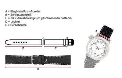 Kids Ersatzband Uhrenarmband Nylon Wasserfest Blau mit Regenbogen-Naht 23465S – Bild 2