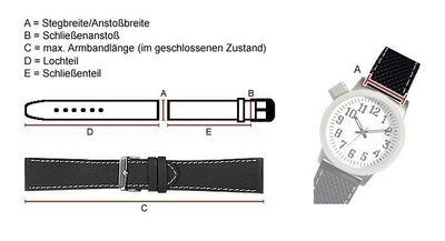Kids Ersatzband Uhrenarmband Nylon Wasserfest Blau mit Regenbogen-Naht 23466G – Bild 2