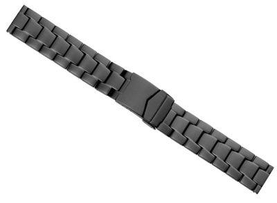 Minott Uhrenarmband Edelstahl massiv schwarz matt 23471B – Bild 1