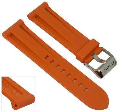 Festina Ersatzband Uhrenarmband Kautschuk Band Orange 24mm für F16574/2 F16574 – Bild 1
