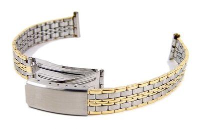 Ersatzband Uhrenarmband Edelstahl Band Bicolor 12mm - 14mm 23595BI – Bild 1