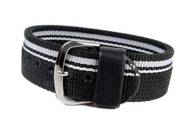 Casio Ersatzband Uhrenarmband Textil Band Durchzugsband schwarz 20mm für BG-1006 – Bild 1