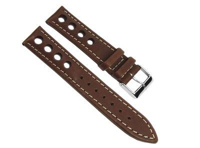 Barington Ersatzband Uhrenarmband Leder Racing braun 20mm 23669S