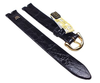 Maurice Lacroix Uhrenarmband 13mm I Echt Kroko Leder schwarz 23684G