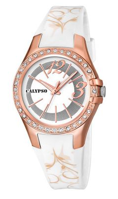 Calypso Watches K5624 Damenuhr analog mit Glitzersteinchen – Bild 2
