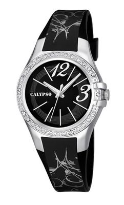 Calypso Watches K5624 Damenuhr analog mit Glitzersteinchen – Bild 3