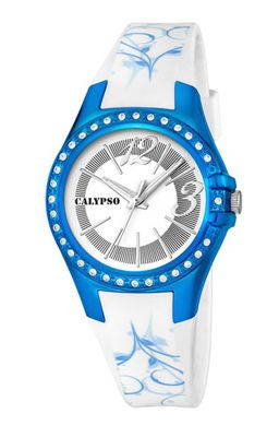 Calypso Watches K5624 Damenuhr analog mit Glitzersteinchen – Bild 7