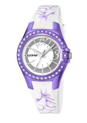 Calypso Watches K5624 Damenuhr analog mit Glitzersteinchen – Bild 8