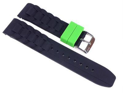 Minott Uhrenarmband Silikon schwarz 22mm passend zu Watch
