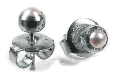 Minott Erstohrstecker Ohrschmuck Stecker Ø 4mm aus Edelstahl 100 % Steril 23844