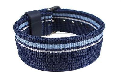 Casio Ersatzband Uhrenarmband Durchzugsband Textil Band Blau 20mm für BG-1006KF – Bild 1