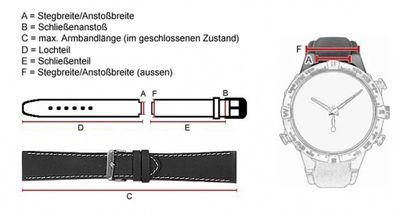 Festina Ersatzband Uhrenarmband PU Band schwarz für F16664/4 F16664 – Bild 2