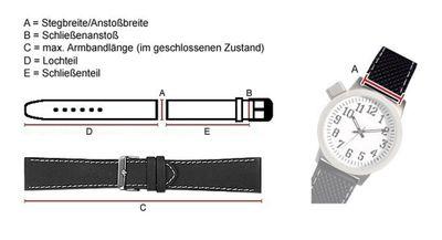 TW STEEL Marken Ersatzband Leder Band 22mm schwarz u.a für TW11, TW22, TW1, TW5, TW6, TW21N, TW23, TW3, TW7 – Bild 2