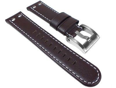 TW STEEL Marken Ersatzband Leder Band 22mm Braun u.a für Canteen CE1005 - CE1012 – Bild 1