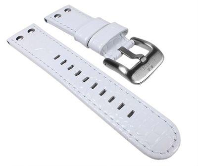 TW STEEL Marken Ersatzband Leder Band 22mm weiß u.a für Canteen TW804 TW54 TW10 – Bild 1