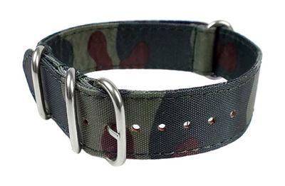 Minott Ersatzband Uhrenarmband Nato Band Durchzugsband Nylon Camouflage 24102