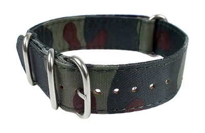 Minott Ersatzband Uhrenarmband Nato Band Durchzugsband Nylon Camouflage 24102 – Bild 1