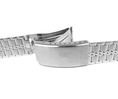 Minott Uhrenarmband Gliederarmband Edelstahl Silberfarben 24123 – Bild 2