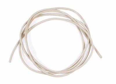 Lederband zum verknoten weiß (cremefarben) 100cm Ø 2mm 24132
