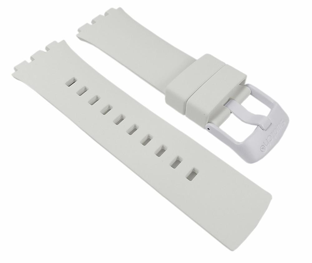 swatch touch white ersatzband uhrenarmband silikon band. Black Bedroom Furniture Sets. Home Design Ideas