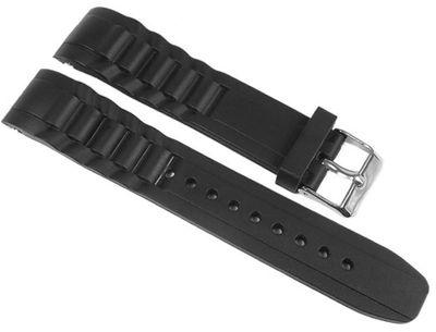 Minott Uhrenarmband Silikon schwarz 20mm passend zu Watch – Bild 1