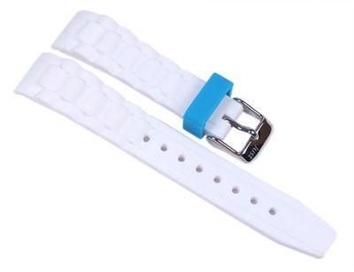 Minott Uhrenarmband Silikon weiß 24mm passend zu Watch