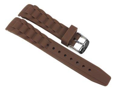 Minott | Uhrenarmband Silikon Braun 20mm passend zu Watch