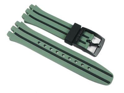 Ersatzband Silikon grün/schwarz Swatch Chrono Plastic SUSG401 – Bild 1