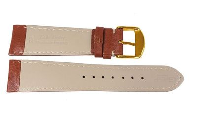 Dakar Manufaktur Uhrenarmband Walknappa Braun mit Kontrastnaht - gewölbt  24338G – Bild 2