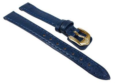 Schok Ersatzband Uhrenarmband Büffelleder Band Blau  24349G