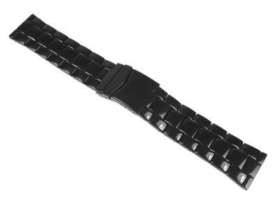 Minott Uhrenarmband Edelstahl Massiv schwarz 24410B – Bild 1