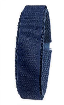Minott Ersatzband Uhrenarmband Textilband Klettband Dunkelblau 20mm 24510 – Bild 1
