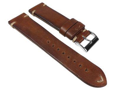 Vintage Pony Ersatzband Uhrenarmband Pferdeleder Dunkelbraun 24511S – Bild 1