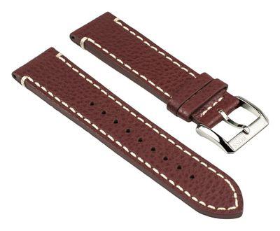 Hugo Boss Black Ersatzband Uhrenarmband Leder Band Braun 22mm für Modell 1512723 – Bild 1