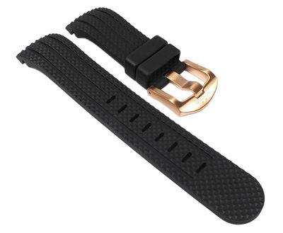 TW STEEL Marken Ersatzband Kautschuk schwarz 22mm für Uhren mit 45mm Gehäuse u.a TW-93 – Bild 1