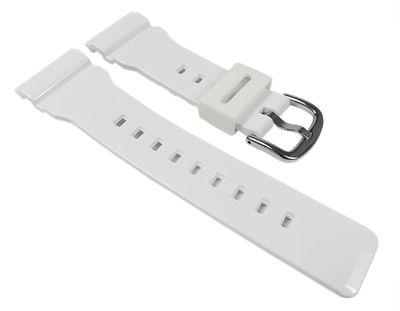Casio Baby-G Ersatzband Uhrenarmband Resin Band weiß für BA-110 BA-111