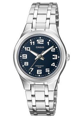 Casio Collection Damenuhr Analoguhr Messing / Edelstahl Silberfarben LTP-1310PD-2BVEF